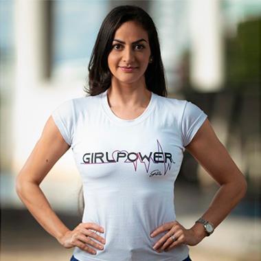 Baby Look Girl Power Branca