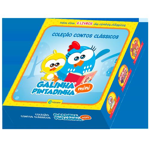 BOX CONTOS CLASSICOS GALINHA PINTADINHA MINI