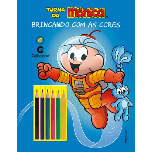 BRINCANDO COM AS CORES - CEBOLINHA UNIVERSO COM LÁPIS
