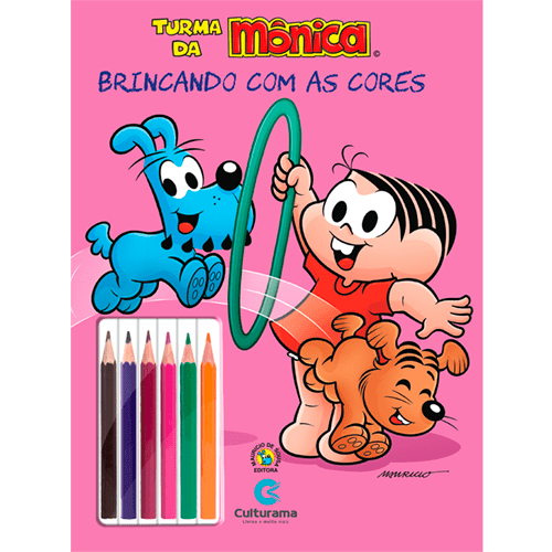 BRINCANDO COM AS CORES - MÔNICA ANIMAIS COM LÁPIS