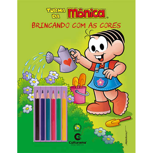 BRINCANDO COM AS CORES - MÔNICA NATUREZA COM LÁPIS