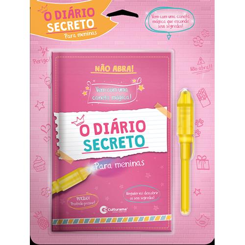 DIÁRIO SECRETO COM CANETA MÁGICA - ROSA