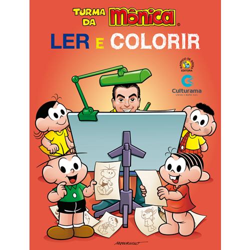 LER E COLORIR TURMA DA MONICA