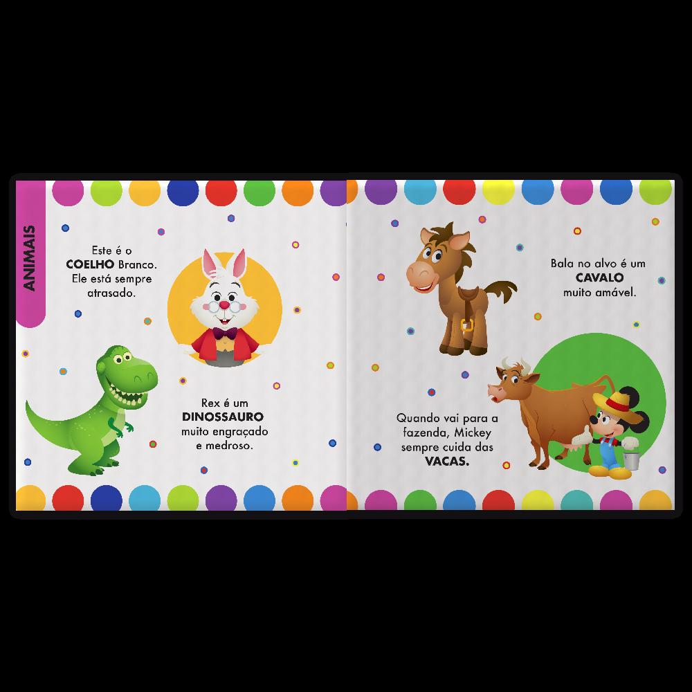 LIVRO DE PANO DISNEY BABY - CONHECENDO OS ANIMAIS
