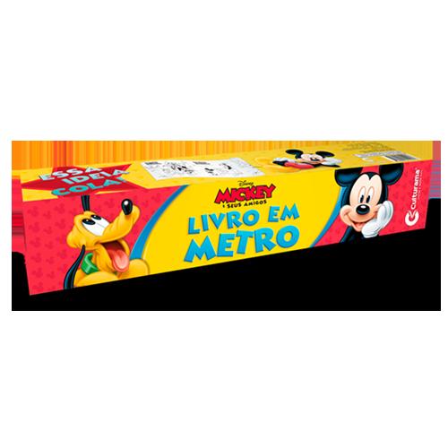 LIVRO EM METRO MICKEY E AMIGOS