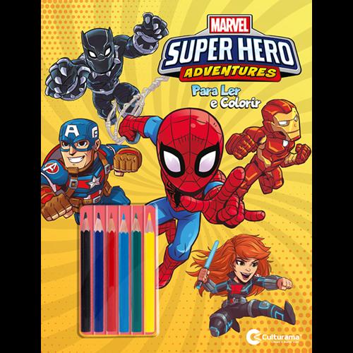 MARVEL SUPER HERO ADVENTURES LER E COLORIR COM LAPIS