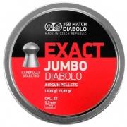 CHUMBINHO 5,5MM JUMBO DIABOLO EXACT 250UN - JSB