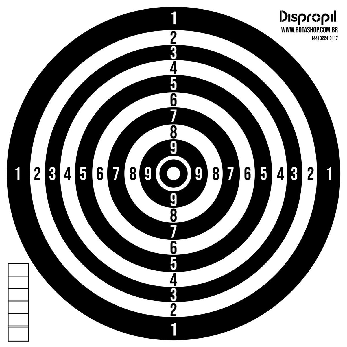 ALVO DE PAPEL RECICLÁVEL 17X17CM COM 100 UNIDADES - DISPROPIL