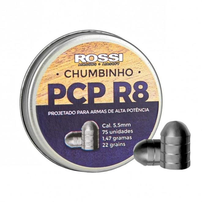 CHUMBINHO PCP R8 5,5MM (200 UN) - ROSSI