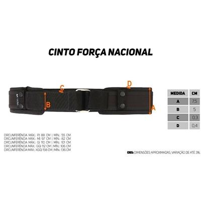 CINTO TATICO FORCA NACIONAL - ATACK