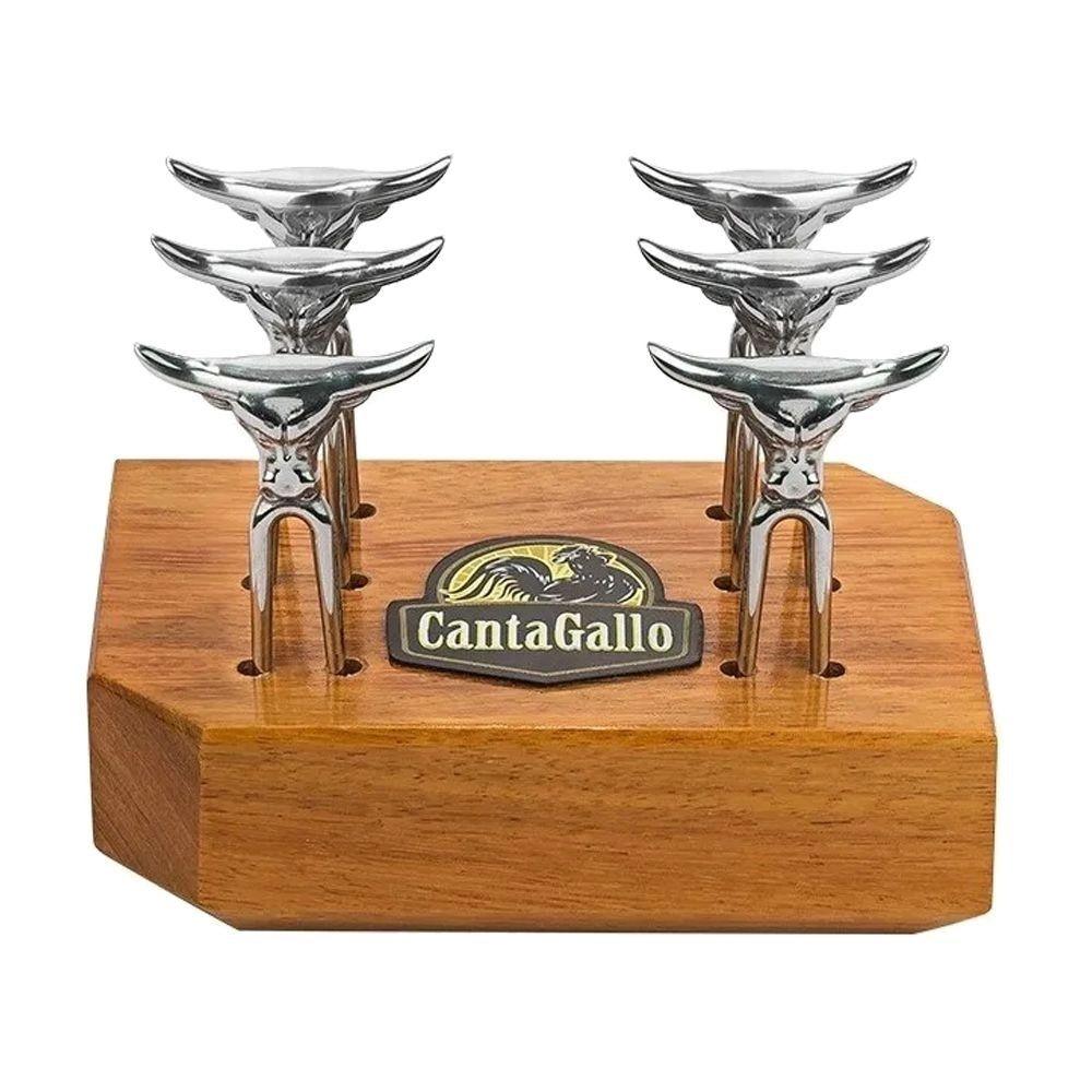 KIT MINI TRIDENTE COM BASE EM MADEIRA - CANTAGALLO