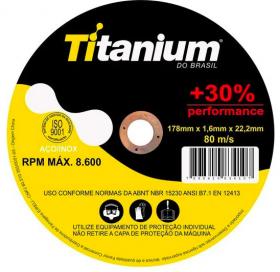 Disco de Corte Fino 7x1,6 - Titanium + 30% de rendimento