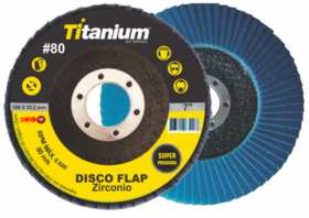 Disco Flap 4.1/2 Grão 80 - Titanium Super Fibra - Zircônio