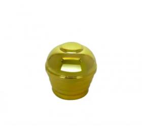 Ponteira Externa Canopla Dourada - 10 unidades