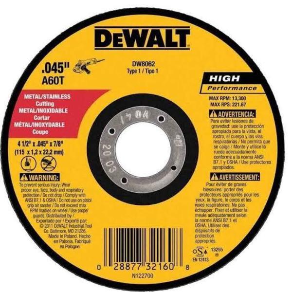 Disco de Corte 14x1 - DeWalt
