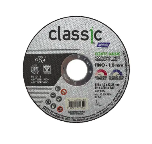 Disco de Corte Fino 4.1/2 - Norton Classic Basic