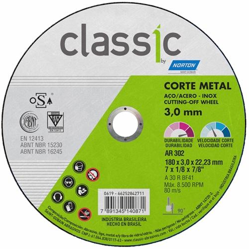 Disco de Corte Fino 7x1,6 Norton Classic