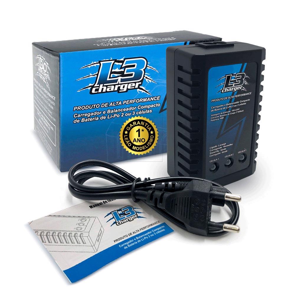 Carregador e Balanceador Compacto de Bateria LiPo 2 ou 3 Células