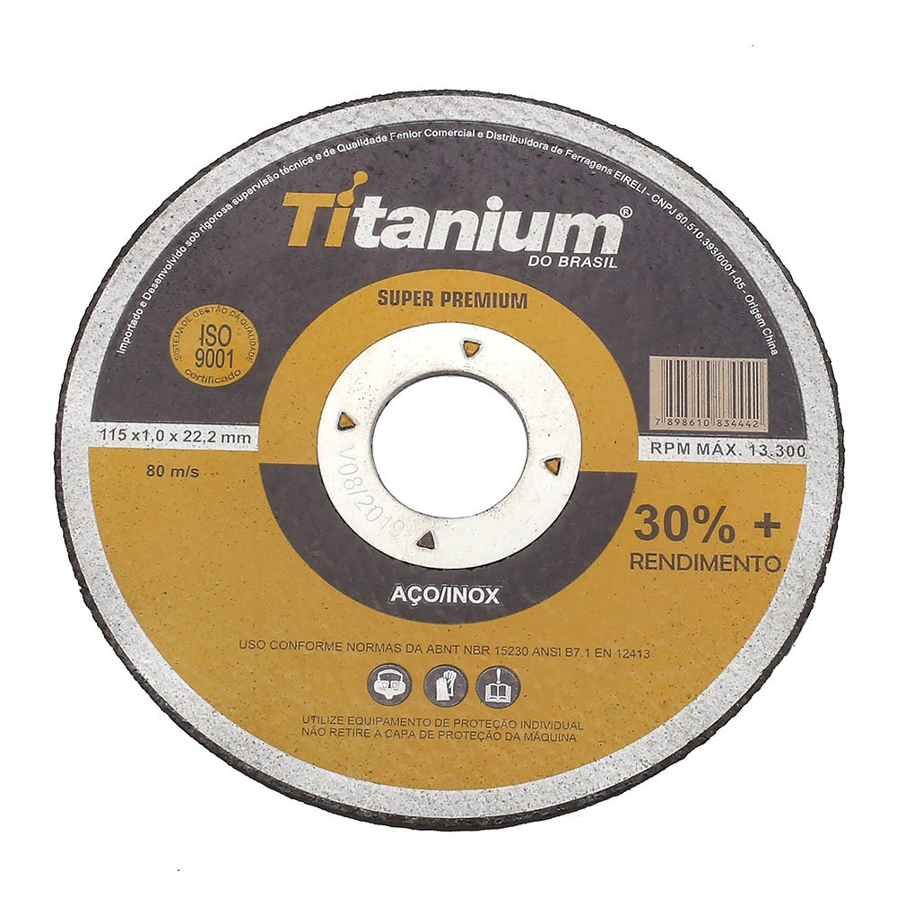 Disco de Corte Fino 4.1/2 Polegadas Super Premium 5047