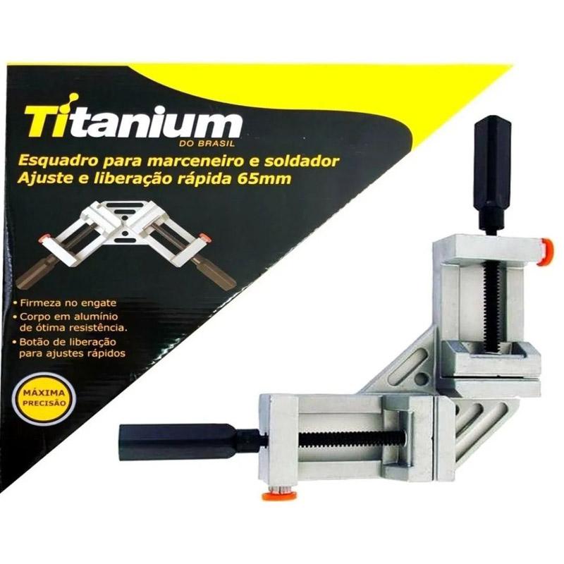 Esquadro Titanium Marceneiro e Soldador 65mm