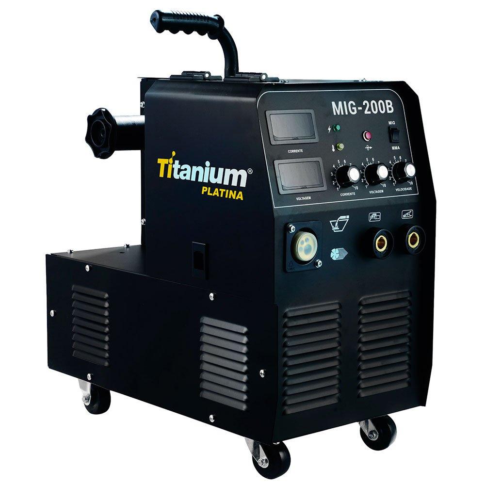 Máquina de Solda Multiprocesso MIG/TIG/MMA Display Digital 200A Mono com Tocha 5239