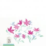 Adesivo de Parede 3D Adesif Beija Flor