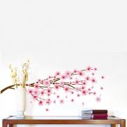 Adesivo de Parede 3D Adesif Flor de Pêssego