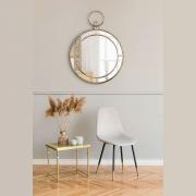 Espelho Decorativo Inova Redondo Nordic 59x43x5cm Ouro Velho
