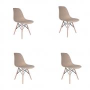 Kit 4 Cadeiras Eiffel Inova - Nude