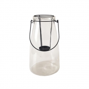 Lanterna Decorativa Vidro Vitry Branco
