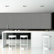 Pastilha Vidro Lisa 2m² Mix Preto e Branco