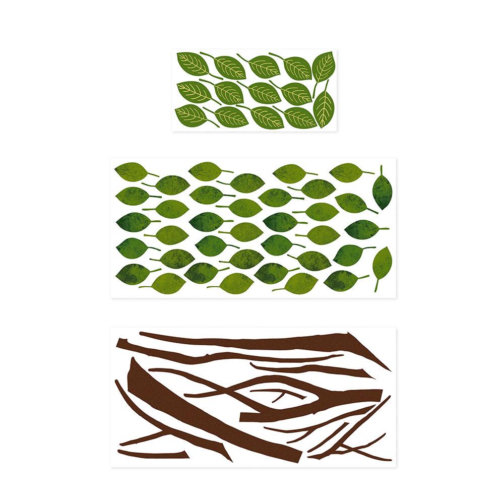 Adesivo de Parede 3D Adesif Folhas Verdes