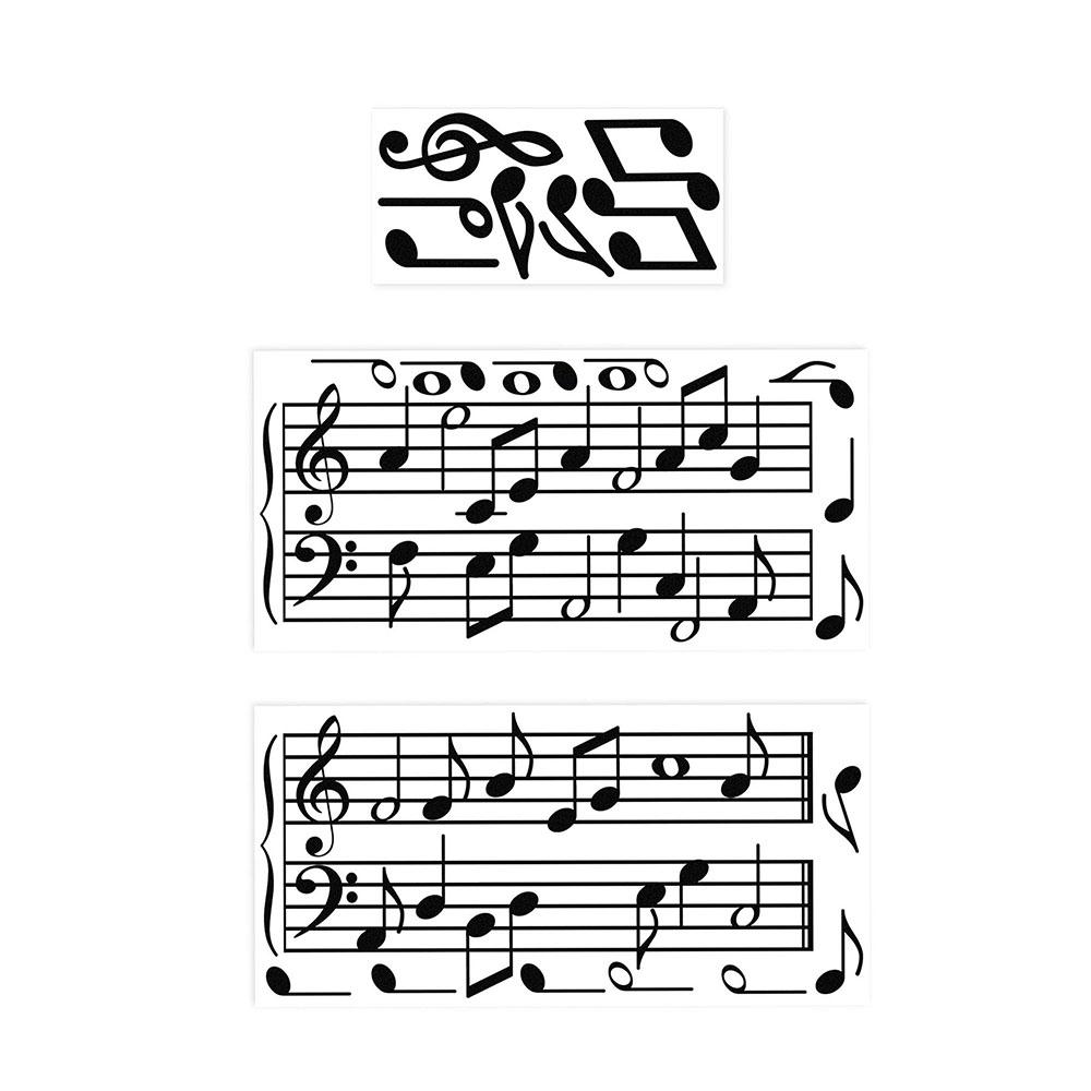Adesivo de Parede 3D Adesif Notas Musicais