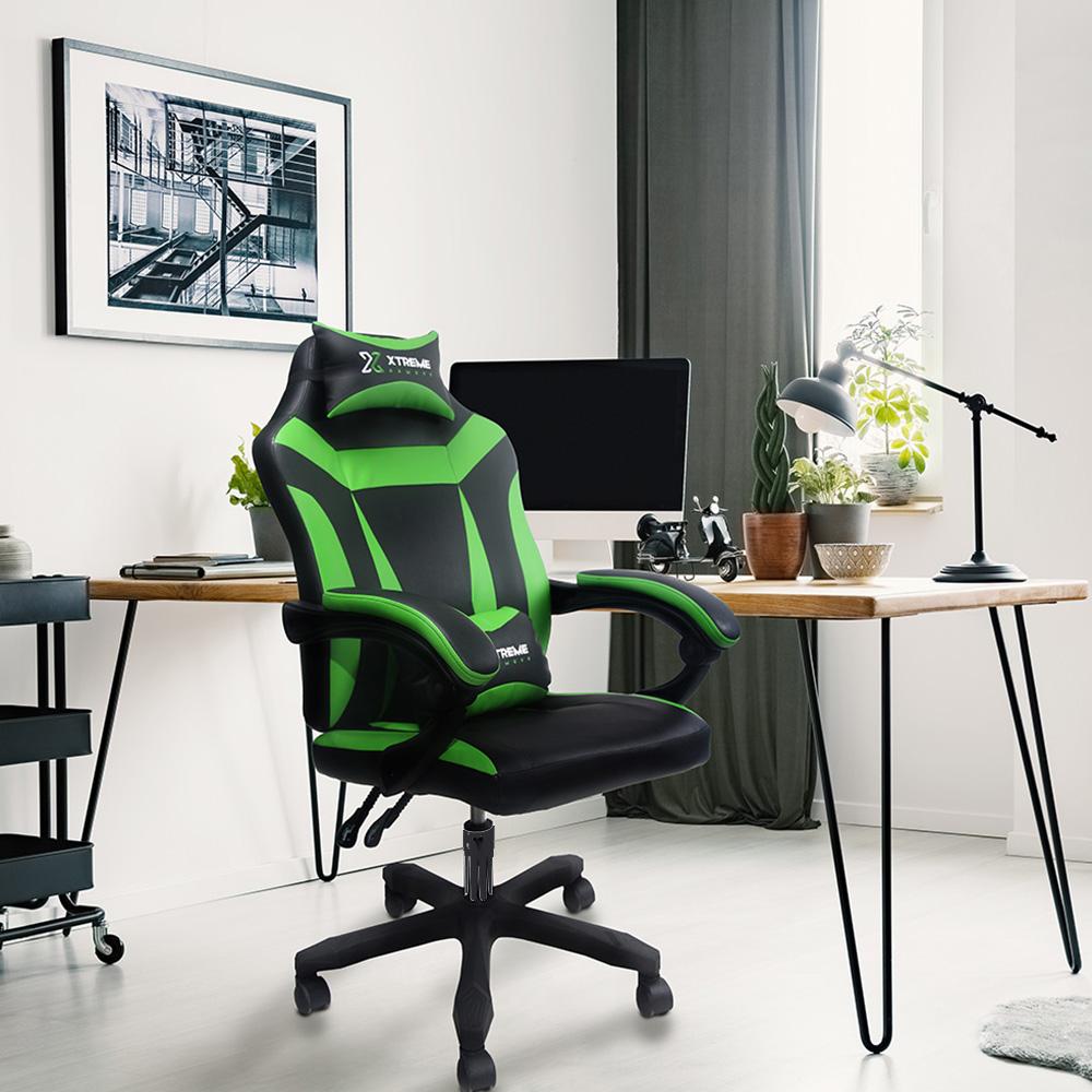Cadeira XTreme Gamers Supra Preta e Verde
