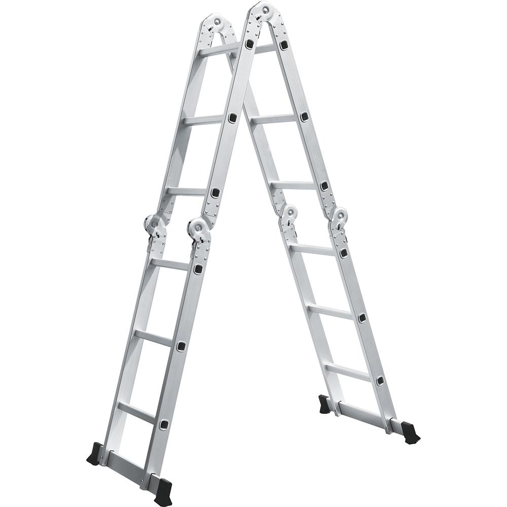 Escada de Alumínio Multifuncional 12 Degraus Evolux  D178805