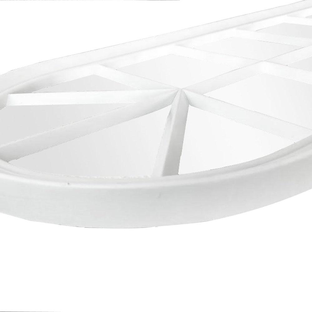 Espelho Branco 33x76 Cm