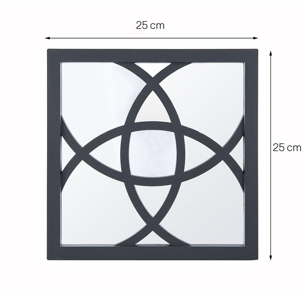Espelho Decorativo Inova Quadrado Atomo 25x25 cm 3 pç Preto