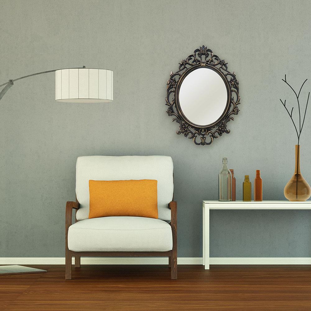Espelho Oval Ouro Envelhecido Inova 57x82x3cm