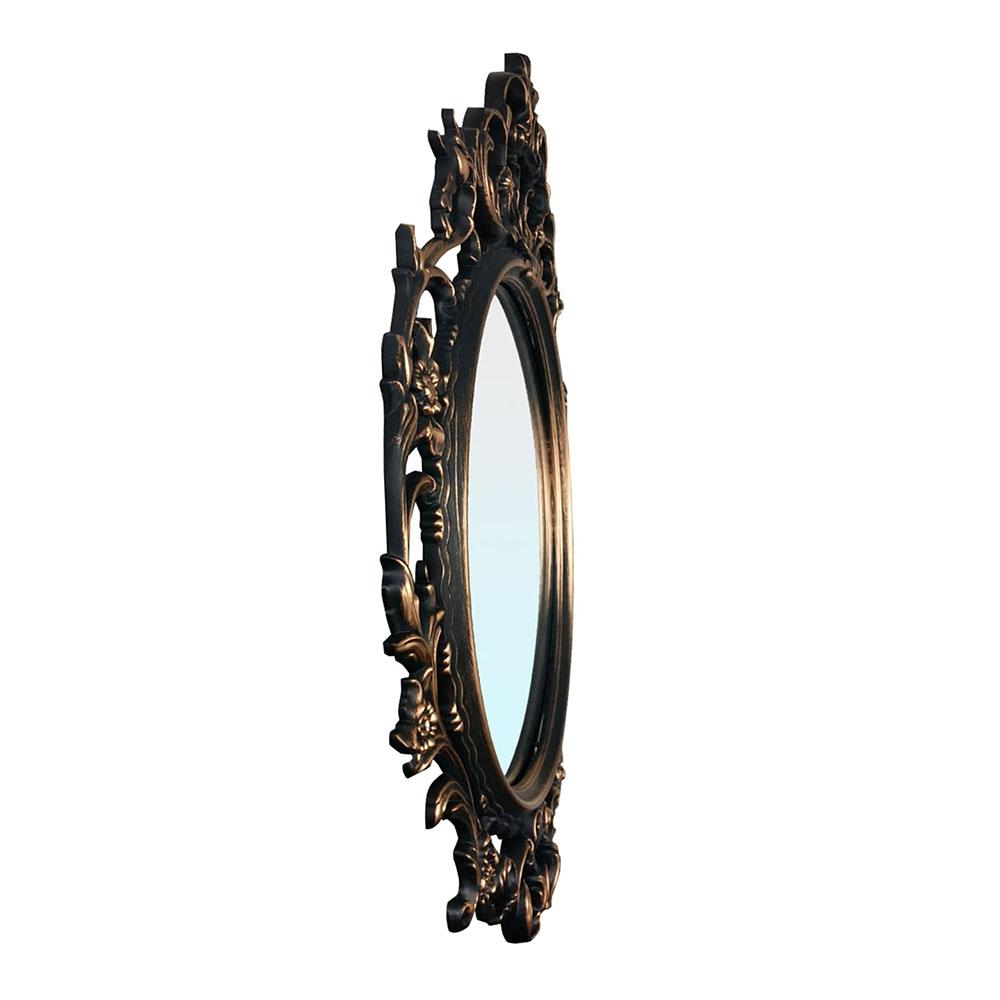 Espelho Oval Prata Envelhecida 50x77x2,5 cm