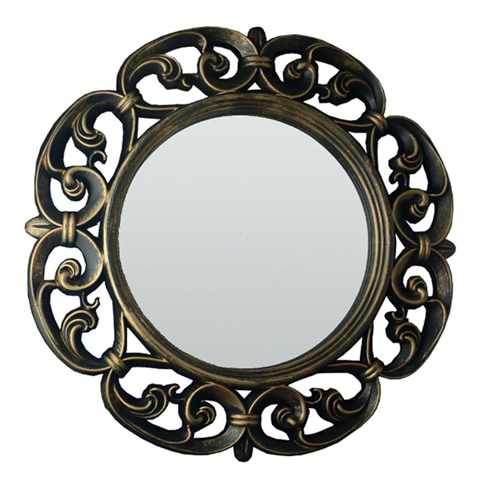 Espelho Redondo Vênus 60x60x4cm Ouro Velho