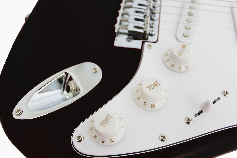 Guitarra Elétrica Preta e Branca