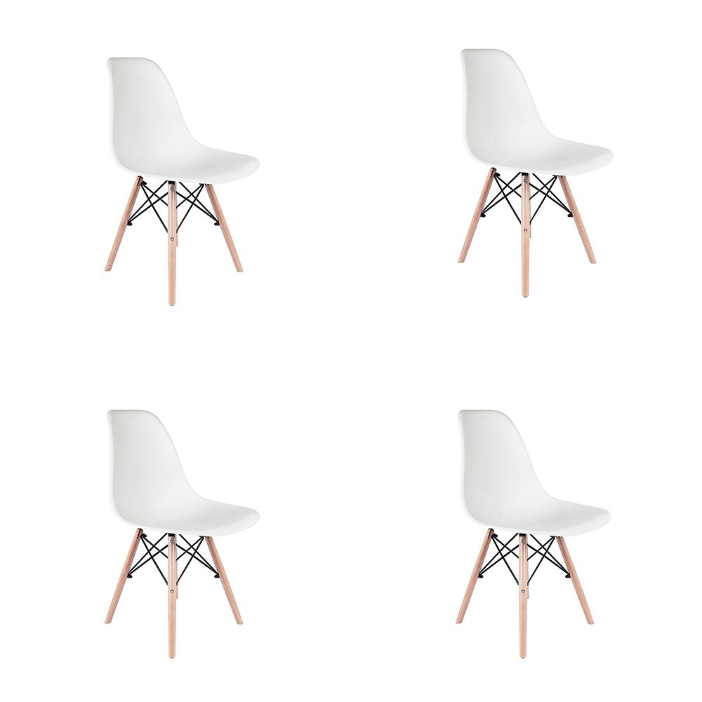 Kit 4 Cadeiras Eiffel Inova - Branca