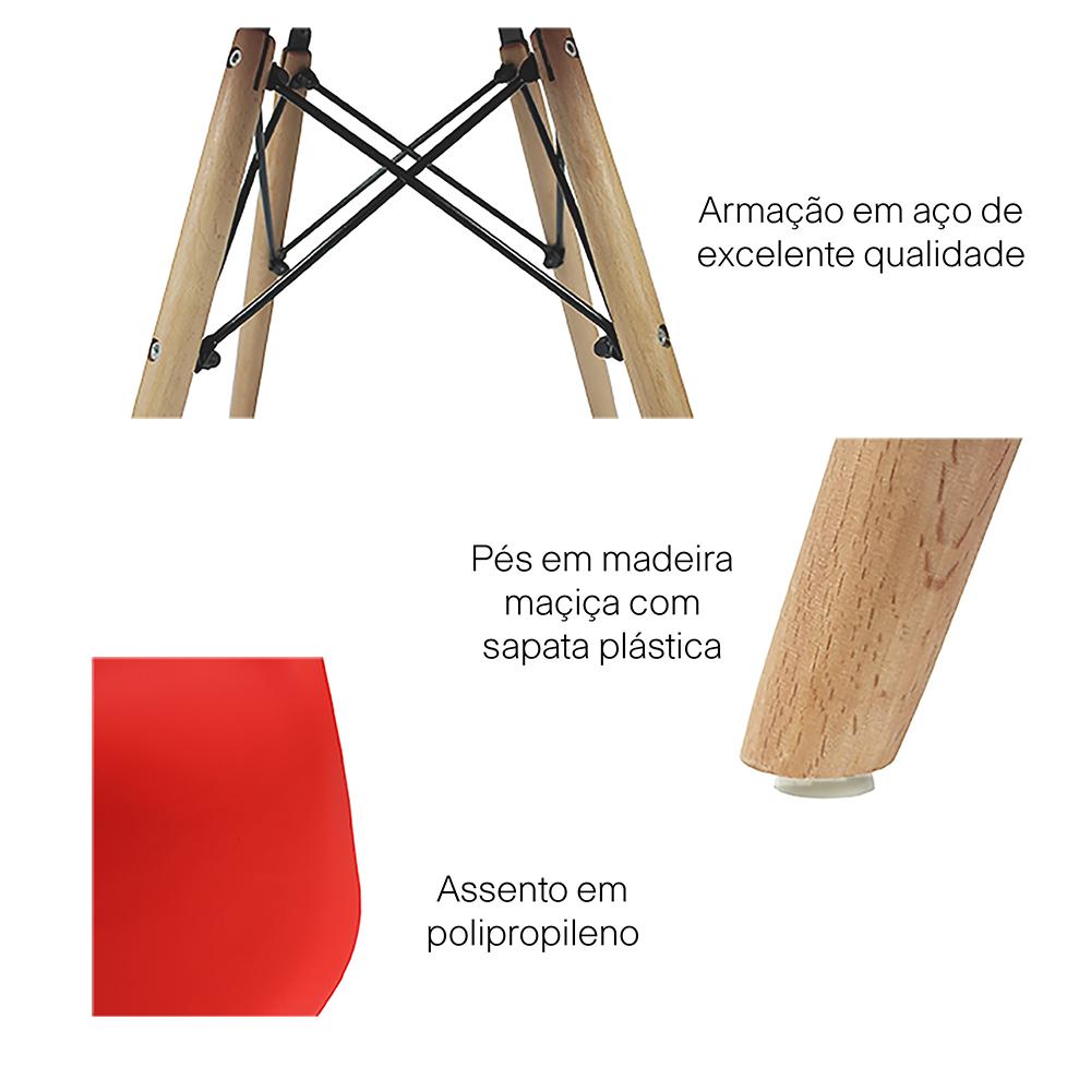 Kit 4 Cadeiras Eiffel Inova - Rosa