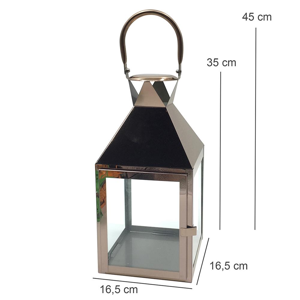 Lanterna Decorativa Metal Cobry Cinza