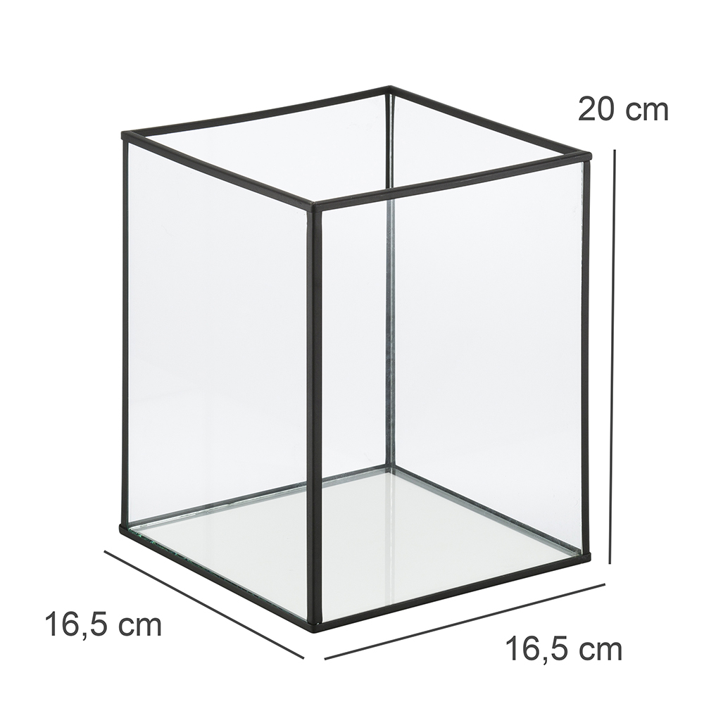 Lanterna Decorativa Metal Cubic