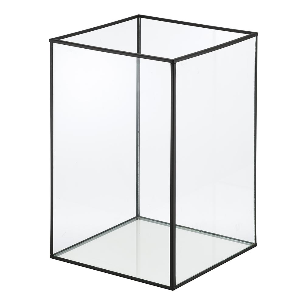 Lanterna Decorativa Metal Cubic Retangular