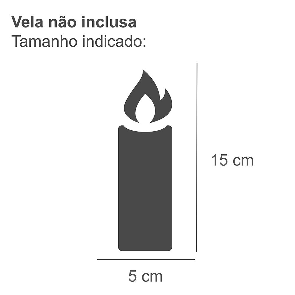 Lanterna Decorativa Vidro Vitry Vermelho