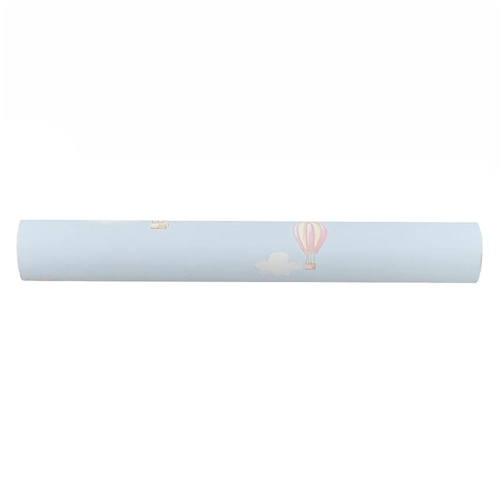 Papel de Parede Infantil  Vinílico 10m X 53cm Azul Balões