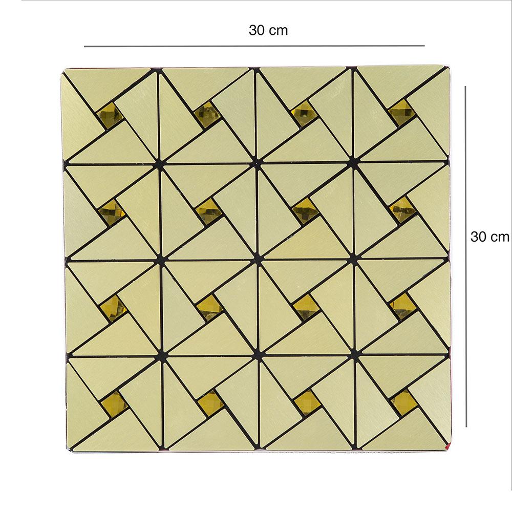 Pastilha Autoadesiva 2m² Dourada - 22 placas