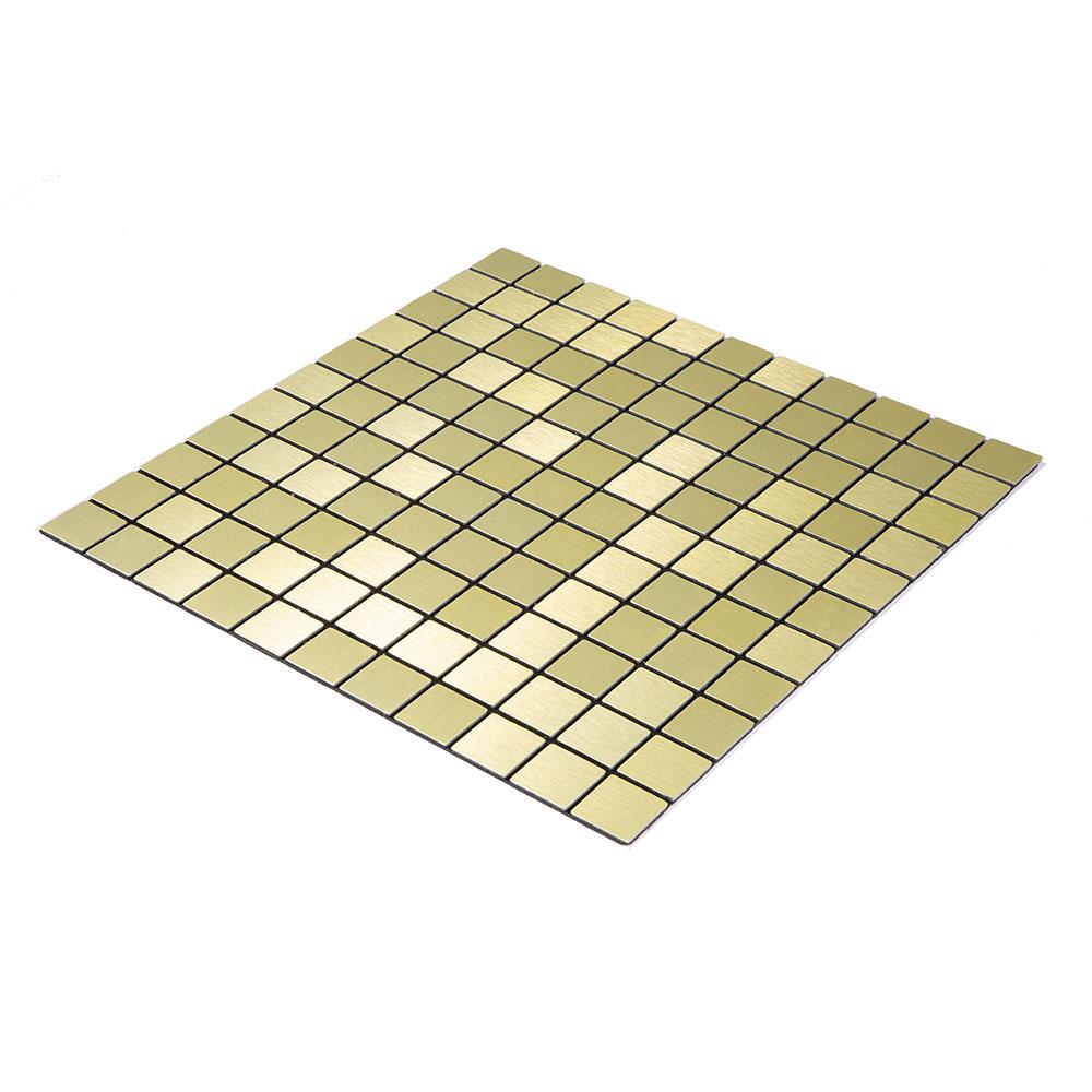 Pastilha Autoadesiva 30 cm X 30 cm 2m² Dourada - 22 placas